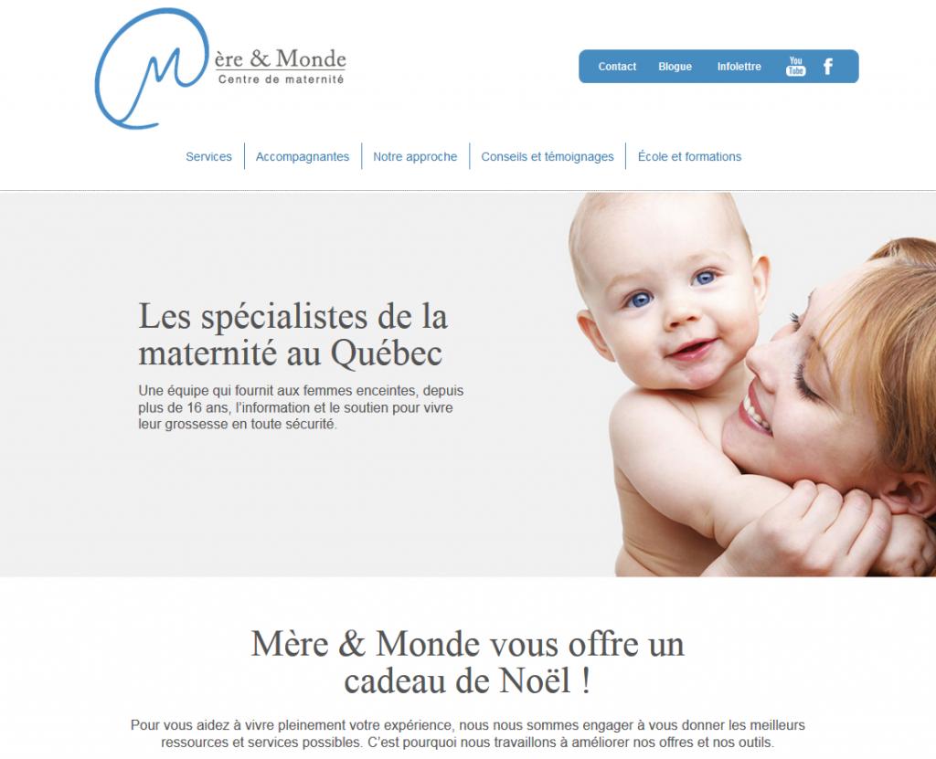 Le nouveau site de Mère et Monde, conçu par Alengry Concept