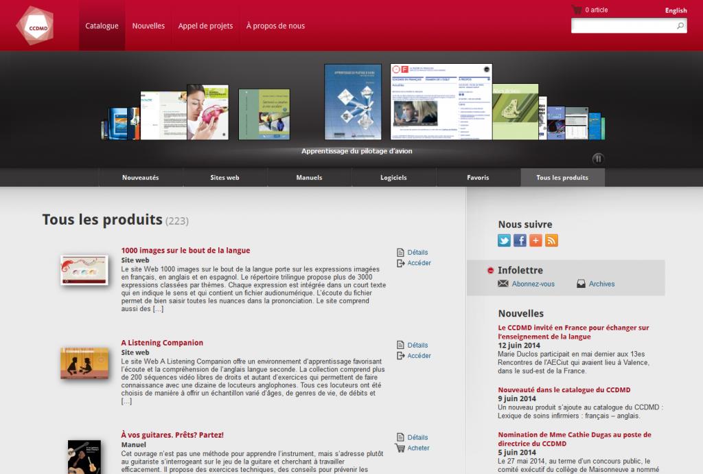 Le site du CCDMD